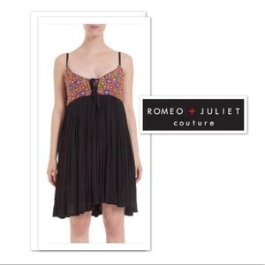 Romeo + Juliet Couture Embroidered Black Dress